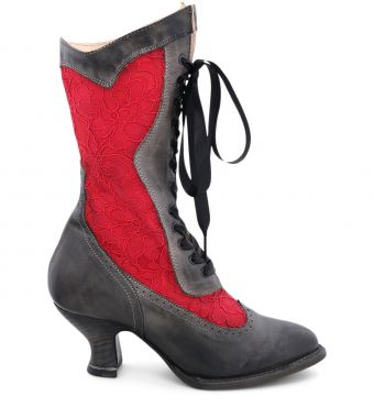 ABIGALE BLACK RUSTIC/RED LACE 6
